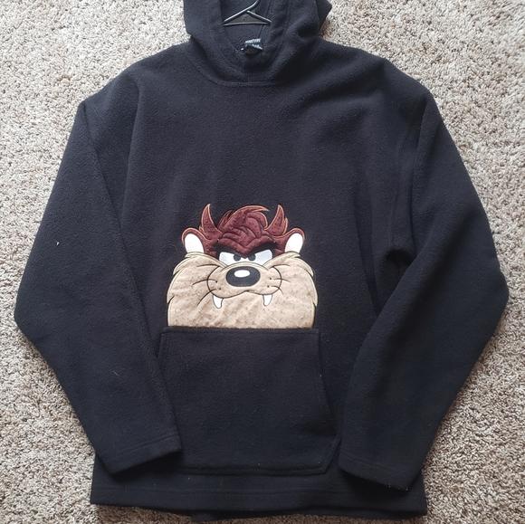 VINTAGE 1996 tasmanian devil fleece hoodie